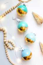 Load image into Gallery viewer, Blue and Gold Foil Ornament