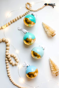 Blue and Gold Foil Ornament