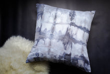 Load image into Gallery viewer, becky pollard, seven sixteen, hand dyed pillow, boho pillow, tribal pillow, shibori, shibori pillow, shibori dye, shibori dyed, shibori dying