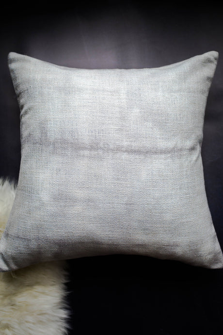 Gray Shibori Pillow Cover