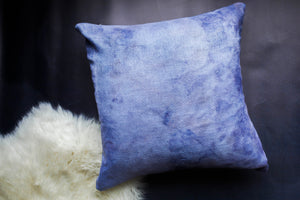 becky pollard, seven sixteen, hand dyed pillow, boho pillow, tribal pillow, blue throw pillow, indigo pillow