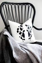 Load image into Gallery viewer, rorschach, seven sixteen, becky pollard, ink blot, ink blot pillow, graphic pillow, black and white pillow, modern pillow, contemporary pillow