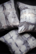 Load image into Gallery viewer, becky pollard, seven sixteen, hand dyed pillow, boho pillow, tribal pillow, shibori, shibori pillow, gray throw pillow, becky pollard, seven sixteen, hand dyed pillow, boho pillow, tribal pillow, shibori, shibori pillow, shibori dye, shibori dyed, shibori dying, hand dyed pillow