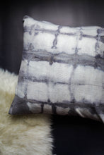 Load image into Gallery viewer, becky pollard, seven sixteen, hand dyed pillow, boho pillow, tribal pillow, shibori, shibori pillow, gray throw pillowbecky pollard, seven sixteen, hand dyed pillow, boho pillow, tribal pillow, shibori, shibori pillow, gray throw pillow, becky pollard, seven sixteen, hand dyed pillow, boho pillow, tribal pillow, shibori, shibori pillow, shibori dye, shibori dyed, shibori dying, hand dyed pillow