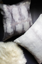 Load image into Gallery viewer, becky pollard, seven sixteen, hand dyed pillow, boho pillow, tribal pillow, shibori, shibori pillow, gray throw pillow