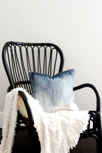 Load image into Gallery viewer, ombre pillow, painted pillow, painted ombre, modern throw pillow, neutral pillow, modern throw pillow, accent pillow, throw pillow, navy and white pillow, seven sixteen, becky pollard, textured pillow, blue throw pillow, navy throw pillow, blue and white throw pillow