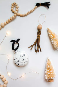 Leather Tassel Ornament