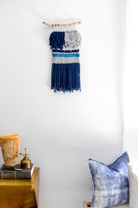 zooey, becky pollard, seven sixteen, fiber art, wall hanging, wallhanging, wall art, styled home, boho interior