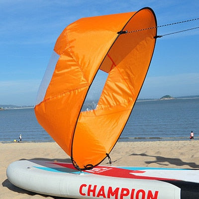 orange Kayak Downwind Wind Sail