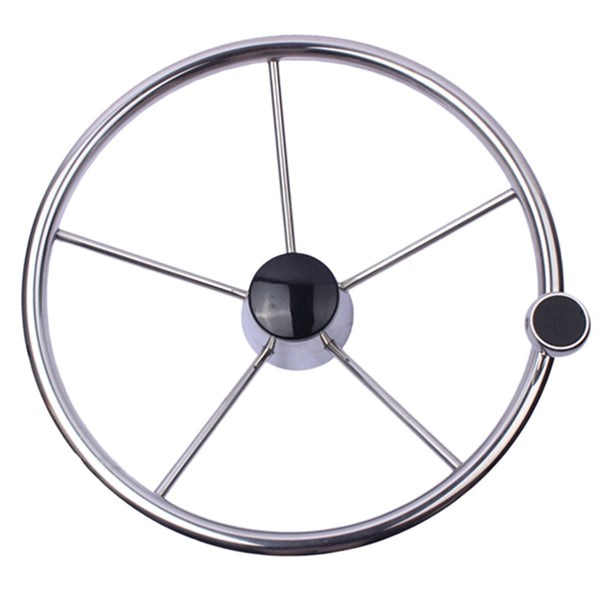 13-1/2 inch Stainless Steel Boat Steering Wheel
