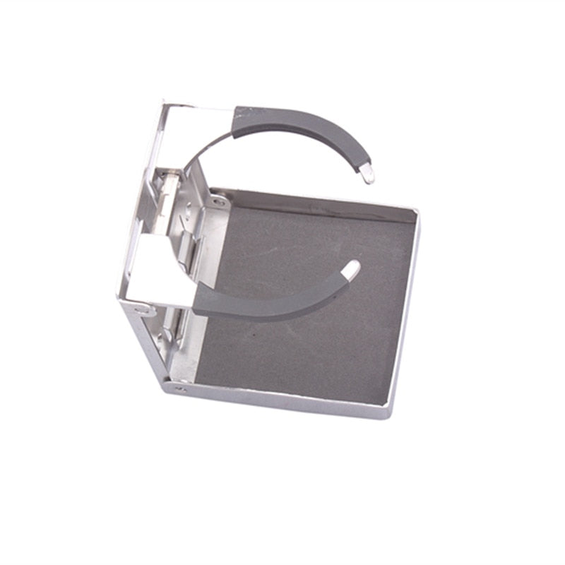 Stainless steel adjustable folding cup holder