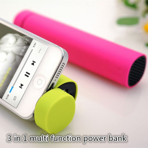 3 in 1 multi function portable power bank mini bluetooth speaker with phone holder function powerbank bluetooth speaker