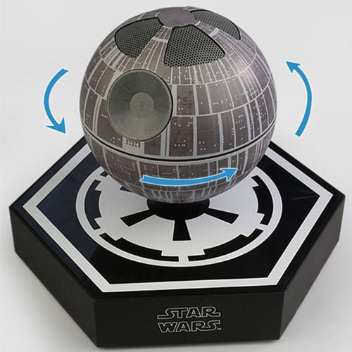4pcs dhl free shipping original levitating floating maglev death star bluetooth wireless speaker with 360 rotating