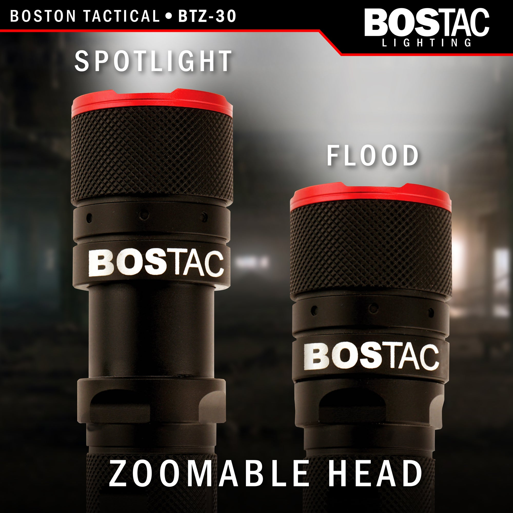Bostac Btz 20 Rechargeable Tactical Flashlight Zoom Head