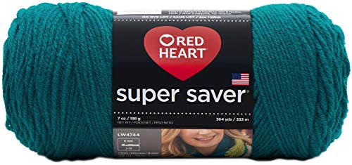 Red Heart E300-656 Red Heart Super Saver Yarn - Real Teal