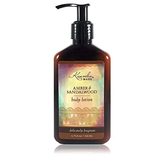 Kuumba Made Lotions, Amber Sandalwood Vegan Body Lotion (177.44ml), 6.75 Fl Oz