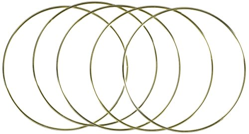 Darice Metal Ring Gold 16 inches (6-Pack) 17164