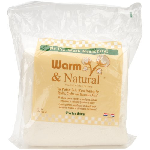 Warm Company Batting 72-Inch by 90-Inch Warm and Natural Cotton Batting, Twin by Warm Company Batting