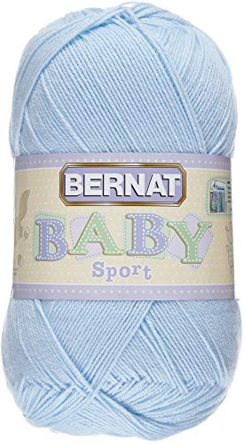 Bernat Baby Big Ball Sport Yarn, 12.3 oz, Gauge 3 Light, 100% Acrylic, Baby White