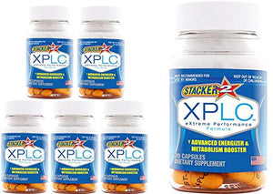 Stacker 2 XPLC Extreme Energizer & Metabolism Booster 20 Capsules/Bottle (Lot of 6 X Bottles) = 120 Capsules