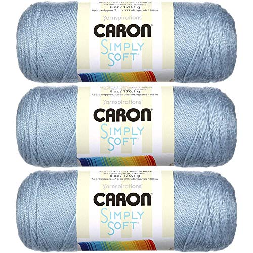 Caron Simply Soft Yarn Solids (3-Pack) Light Country Blue H97003-9709