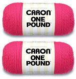 Caron One Pound Yarn - 2 Pack (Dark Pink)
