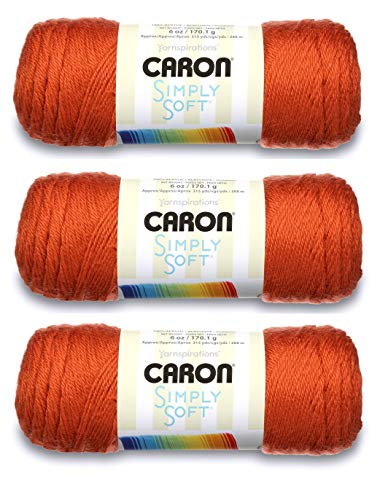 Caron Simply Soft Yarn Solids (3-Pack) Pumpkin H97003-9765