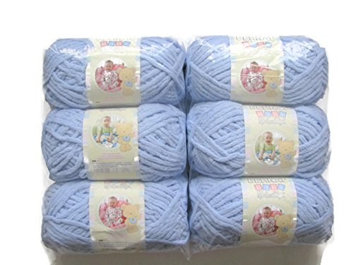 BERNAT Baby Blanket Yarn, 3.5oz, 6-PACK