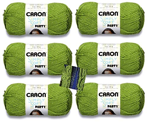 Caron Simply Soft Party Yarn - 6 Pack with Pattern (Spring Sparkle)