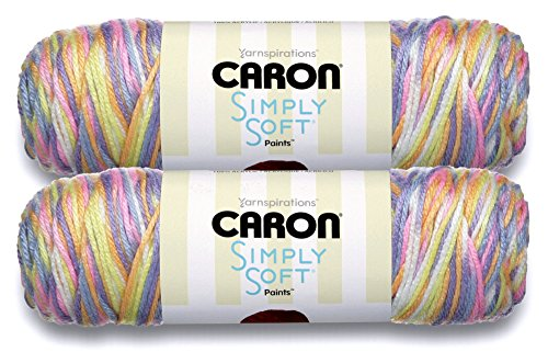 Caron Simply Soft Bulk Buy Camo, Ombres, Paints and Stripes (2-Pack) ~ 100% Acrylic Yarn ~ 5 oz. Skeins
