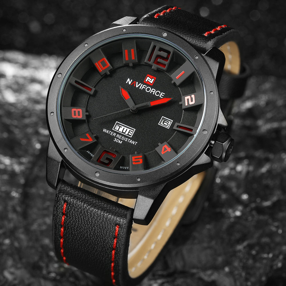 Niche Black Red Wrist Watch