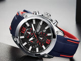 Sporty Stylish Blue Red Wrist Watch