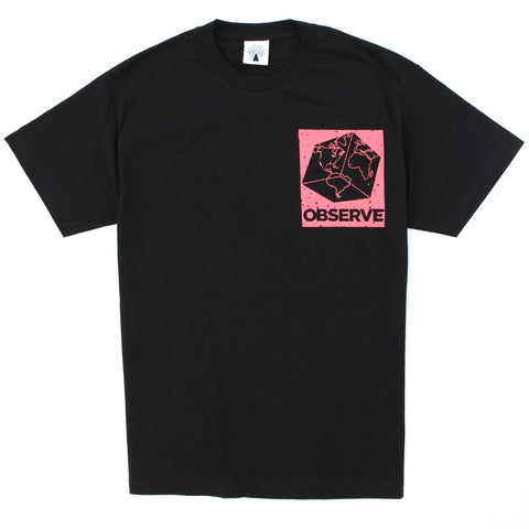 Out Of Joint Square Earth T-Shirt Black