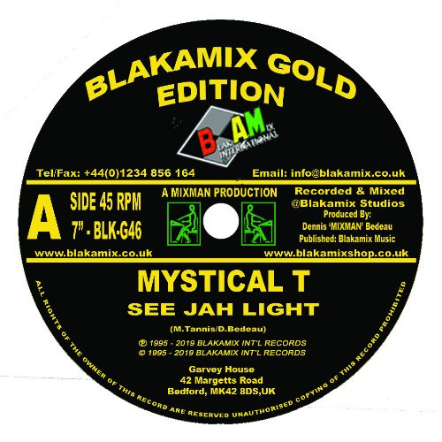 Mystical T - See Jah Light - Out Of Joint Records