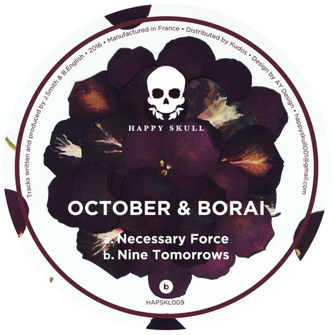October & Borai - Necessary Force // Nine Tomorrows - Out Of Joint Records