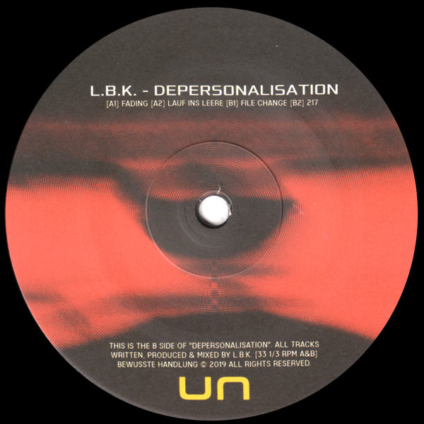 L.B.K. - Depersonalisation - Out Of Joint Records