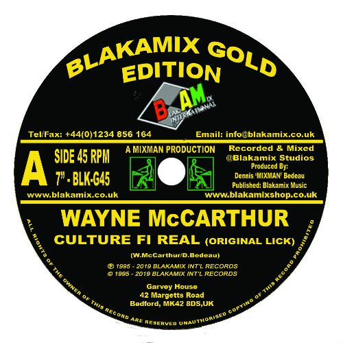 Wayne McCarthur - Culture Fi Real - Out Of Joint Records