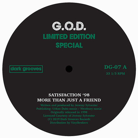 G.O.D - Limited Edition Special - Out Of Joint Records