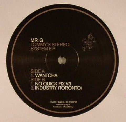 MR G - Tommy's Stereo System EP - Out Of Joint Records