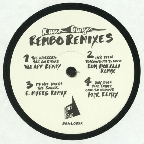 Karen Gwyer - Rembo - The Remixes - Out Of Joint Records