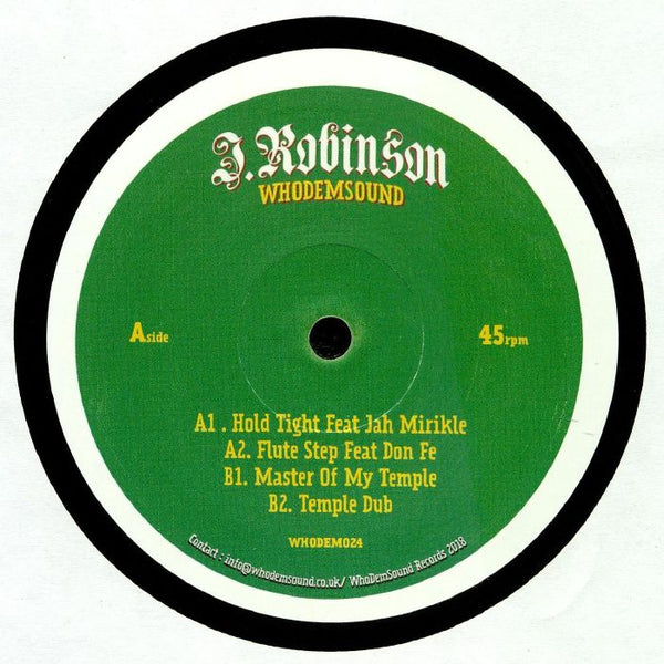 J.Robinson - Hold Tight EP - Out Of Joint Records