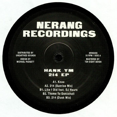 Hank YM - 214 EP - Out Of Joint Records