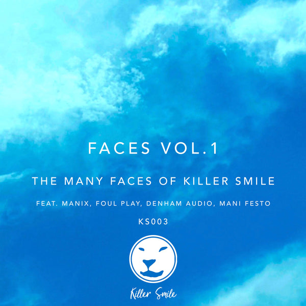 Various Artists - Faces Vol.1: The Many Faces of Killer Smile (Blue & White Marbled Vinyl)