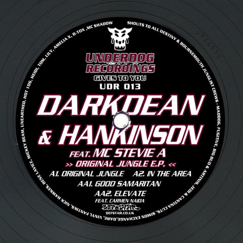 Dark Dean & Hankinson - The Original Jungle EP - Out Of Joint Records