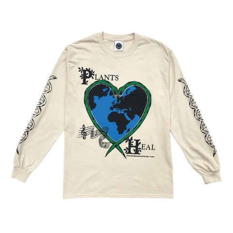 Good Morning Tapes Plants Heal LS Tee