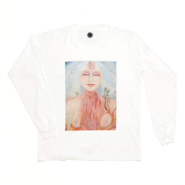 Good Morning Tapes Gaia LS Tee White