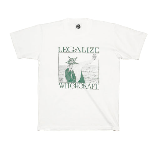 Good Morning Tapes Legalize Witchcraft SS Tee White