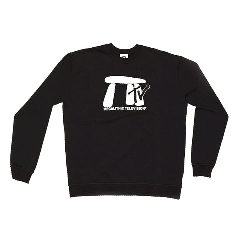 Good Morning Tapes Megalithic TV Crewneck Sweater Black