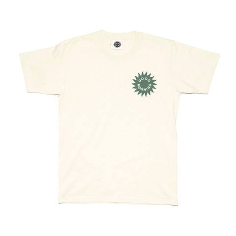 Good Morning Tapes Sun Logo SS Tee Natural