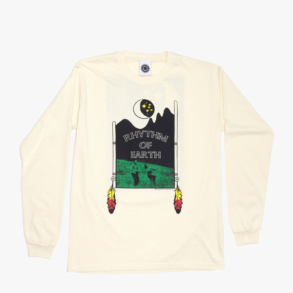Good Morning Tapes Rhythm Of Earth LS Tee Natural